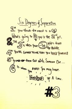 the script six degrees of separation - Google Search
