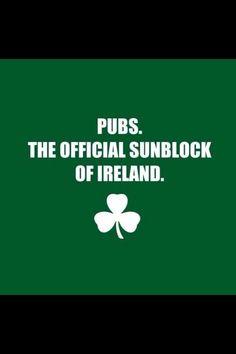 Pride of the Irish FB - Pubs = sunblock