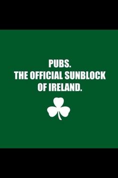 Pride of the Irish FB - Pubs = sunblock