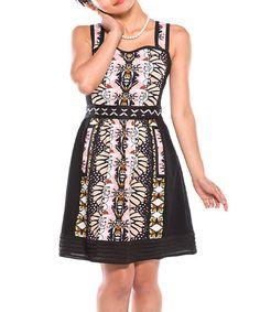 Look at this #zulilyfind! Black Artistic Sweetheart Dress by Ju's #zulilyfinds