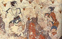 Recolector de Azafrán, Palacio de Cnosos