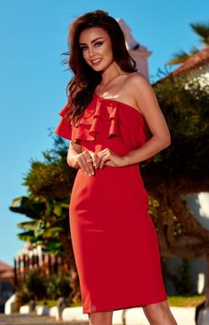 4e3c419c0d Lemoniade L254 sukienka czerwona - Sukienki na wesela i imprezy - Koronkowe  sukienki - MODA DAMSKA - Sklep internetowy