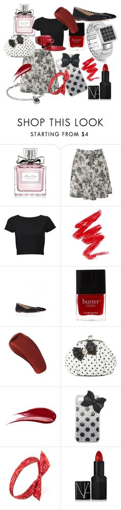 """Be my... Dama!"" by nomination ❤ liked on Polyvore featuring Christian Dior, Red Label, Lipsy, Chloé, Butter London, Zoya, Hourglass Cosmetics, Lisbeth Dahl, Wet Seal and Forever 21"