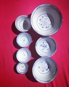 A personal favorite from my Etsy shop https://www.etsy.com/listing/292130973/vintage-set-of-6-blue-and-white-hamd  Vintage Set of 6 Blue and White Hand Painted Porcelain Chinoiserie Style Asian Antique Nesting Bowls only $69