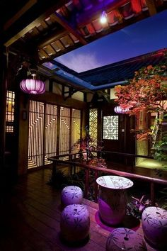 A section of blue ceiling, with our China table and stools - Chinese home style. A section of blue ceiling, with our China table and stools - Ancient Chinese Architecture, Asian Architecture, Chinese Interior, Asian Interior, Oriental Decor, Oriental Style, Opium Den, Old Shanghai, Blue Ceilings