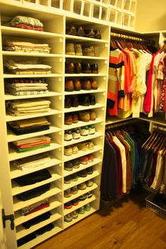 I like the corner rods. Master Closet Organization