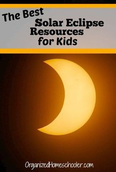 These are the best solar eclipse resources for kids. These eclipse crafts and eclipse books are perfect for young kids. Solar Eclipse Activity, Solar Eclipse 2017, Science For Kids, Activities For Kids, Eclipse Book, Space And Astronomy, Nature Study, Classroom Fun, Solar Eclipse