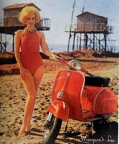 Vespa! It says it's Margaret Lee but I think it is Ruta Lee.