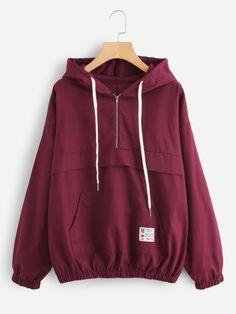 SheIn offers Kangaroo Pocket Elastic Hem Hoodie & more to fit your fashionable needs. Pretty Outfits, Cool Outfits, Fashion Outfits, Mode Kawaii, Mode Hijab, Visual Kei, Fashion Over, 60 Fashion, Sweater Jacket