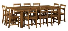 Vintage 2500x1500 Dining Package (Table: 2500W x 1500D x 785H mm; Chair: 475W x 500D x 800H mm) RRP $2,454