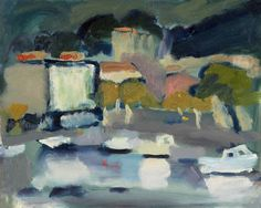 Annabel Gault: Harbour, Cassis V Campden Gallery, Landscape Artwork, Contemporary Paintings, Abstract Expressionism, A3, Virginia, Coastal, Landscapes, Gallery, Drawings