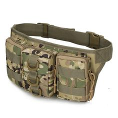 * Tactical Accessories Belt Pouch, Pouch Bag, Belt Bags, Camouflage, Waterproof Fanny Pack, Nylons, Hunting Bags, Tactical Bag, Hiking Bag