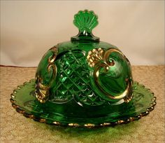 Vintage Butter Dish. Was very pretty on the kitchen table.