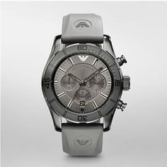 Complete your look with this handsome men's chronograph sport watch! Best Watches For Men, Cool Watches, Seiko, Giorgio Armani, Emporio Armani Mens Watches, Herren Chronograph, Mens Designer Watches, Rolex Submariner No Date, Sport Watches