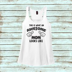 This Is What An Awesome Mom Looks Like  Racerback by iGraffitee