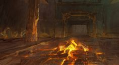 Korra Book 3 Backgrounds painted by Frederic Stewart
