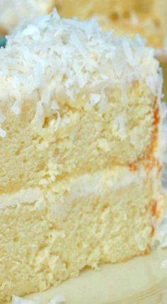 Coconut Cake with Coconut Cream frosting