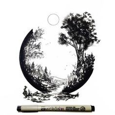 Pen and Ink artwork by Derek Myers. More