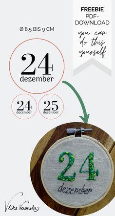 Das Freebie mit acht Stickmotiven für Weihnachten kannst Du Dir kostenlos herunterladen, ausdrucken und lossticken. Bastle schöne Mitbringsel, Geschenkanhänger oder Wandbilder selbst.
