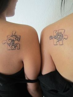 Puzzle piece tattoo