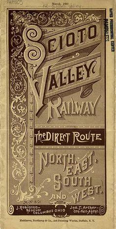 Scioto Valley Timetable (1887)
