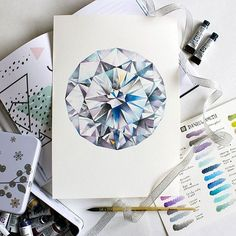 Color Pencil Drawing Ideas Diamond in colored pencil Diamond Sketch, Diamond Drawing, Diamond Art, Diamond Vector, Jewellery Sketches, Jewelry Drawing, Jewelry Art, Gem Drawing, Drawing Ideas