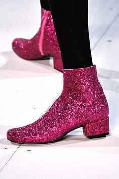 20 Shoes That Defined Fashion Month #refinery29  http://www.refinery29.com/best-shoes#slide-4  Saint Laurent pours on the glitter for fall '14, and the results are quite dazzling....