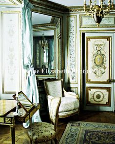French, teal, ornate, decor, love!