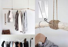 DIY: tak als kledingrek