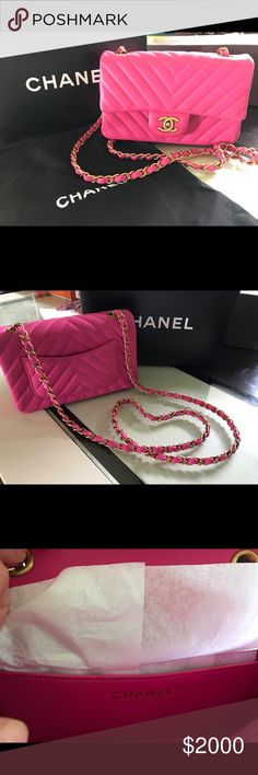 Authentic CHANEL crossbody bag NWT Pink CHANEL crossbody bag, dust bag and box CHANEL Bags Crossbody Bags