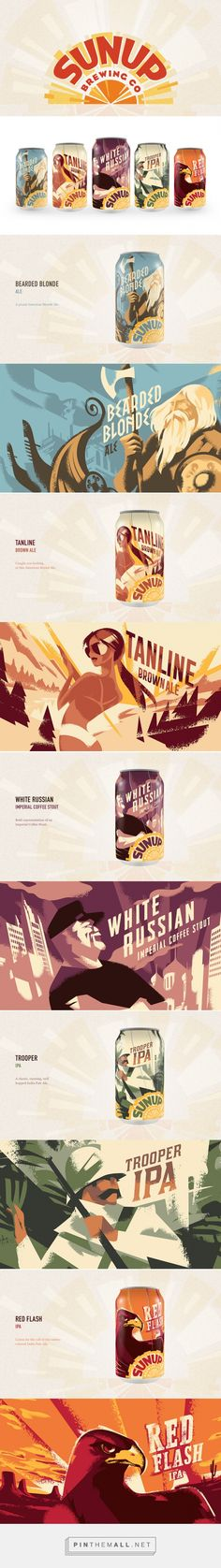 SunUp Brewing Co.         on          Packaging of the World - Creative Package Design Gallery - created via https://pinthemall.net