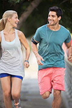 View Stock Photo of Couple Running Through City Streets Together. Find premium, high-resolution photos at Getty Images. Couple Running, Biceps And Triceps, Fit Couples, Running Quotes, Perfect Couple, Sit Up, City Streets, Wedding Pics, Couple Pictures