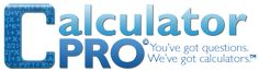 Calculator Pro.  This site has a great set of calculators to help with weight loss and exercise!