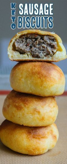 Our Keto Sausage Balls use a simple fathead dough and fatty, seasoned sausage to make the perfect mini breakfast sandwich! Our Keto Sausage Balls use a simple fathead dough and fatty, seasoned sausage to make the perfect mini breakfast sandwich! Keto Diet Breakfast, Breakfast Recipes, Breakfast Ideas, Breakfast Sandwiches, Breakfast Gravy, Breakfast Hash, Breakfast Casserole, Breakfast Biscuits, Breakfast Cookies