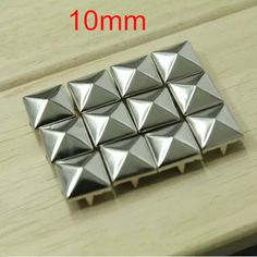 Find More Garment Rivets Information about Free Shipping   300 pcs Nickel Color Plump Pyramid Metal Rivet Stud Spikes 10*10mm Square Punk Rock DIY Clothes,Bags,Shoes Stuff,High Quality shoes with removable heel,China shoe bag Suppliers, Cheap bag pole from Fashionista Style on Aliexpress.com