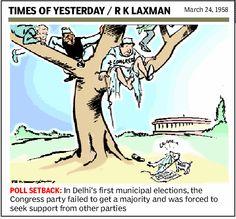 Cartoonist RK Laxman on Congress misfortunes