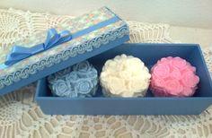 Caixa e sabonetes Provence