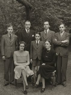 """August Sander. Family of a State Premier[Wilhelm Boden]. c. 1950. Gelatin silver print. 10 3/16 x 7 3/8"""" (25.8 x 18.7 cm). Acquired through the generosity of the family of AugustSander. 472.2015.218. © 2017 Die Photographische Sammlung / SK Stiftung Kultur - August Sander Archiv, Cologne / ARS, NY. Photography"""