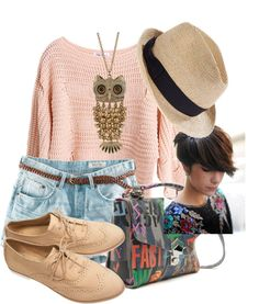 """Pixie cut"" by orheaovary ❤ liked on Polyvore"