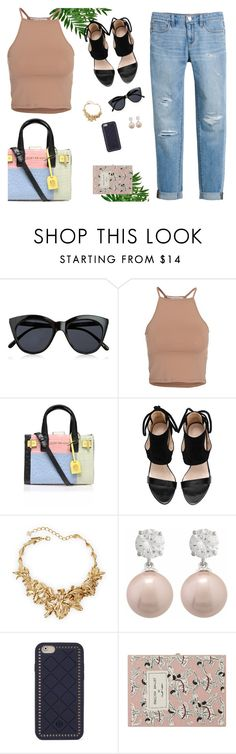 """Your Daily Flatlay no. 16"" by frustrated-designer on Polyvore featuring Le Specs, NLY Trend, Kurt Geiger, Oscar de la Renta, Tory Burch, Olympia Le-Tan and White House Black Market"