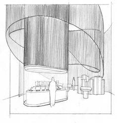 the art and science of gems Restaurant Interior Design, Retail Interior Design, Museum Exhibition Design, Jewelry Store Design, Interior Design Sketches, Lobby Design, Retail Store Design, Co Working, Commercial Design