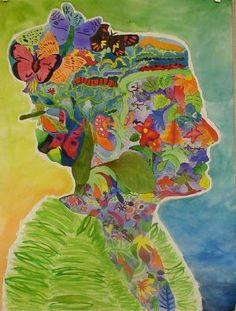 middle school art projects   ... portrait - Narrative - Symbolism - Positive/negative shape - Art style