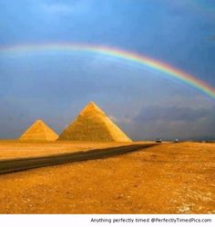 Rainbow over the pyramid – An amazing back drop after the rain storm rolled through.