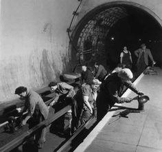 1954: Underground fluffers. | 31 Gorgeous Photos Of The London Underground In The '50s And '60s