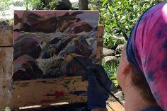 Neither Rain, Pigs, Nor Snow Will Keep Colorado Plein Air Painters From Their Art   KUNC