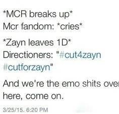 and over 170 people killed themselves over him leaving 1D?!! Suicide is not a joke, but these people make it seem like it is. Are you fucking kidding me? I know people who killed themselves because of true pain! This is not true pain!! I just can't say anything else or I'll just blow up