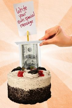 You can wrote heart warming notes with our money cake kit! Perfect for all occasions! Super Cool Cakes, Hide Money, Graduation Cake Toppers, Cake Kit, Money Cake, Surprise Box, Happy Birthday Cakes, Creative Cakes, Amazing Cakes