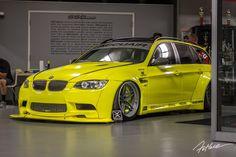 Mickey Andrade BMW with a nose, engine abd drivetrain. Bmw V8, E60 Bmw, Wagon Cars, Bmw Wagon, E91 Touring, Liberty Walk, Bmw Series, Hot Rides, Modified Cars