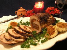 Apple Cranberry Stuffed Pork Roast