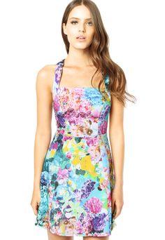 Vestidos passeio - Colcci - http://vestidododia.com.br/vestidos-curtos/vestidos-floridos-de-passeio/ #fashion #dresses